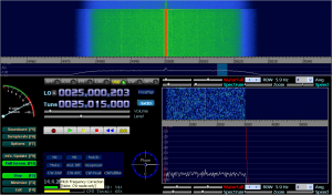 SDRX01B with LW antenna connected via ca. 5m long coax RG58